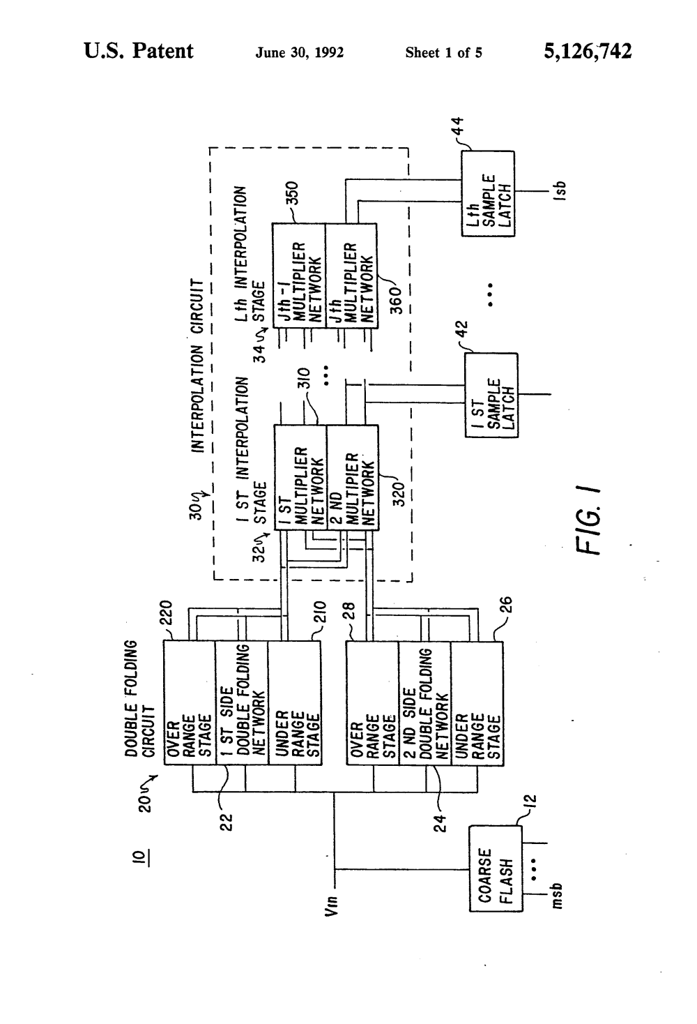 medium resolution of us5126742a analog to digital converter with double folding interpolation circuitry google patents