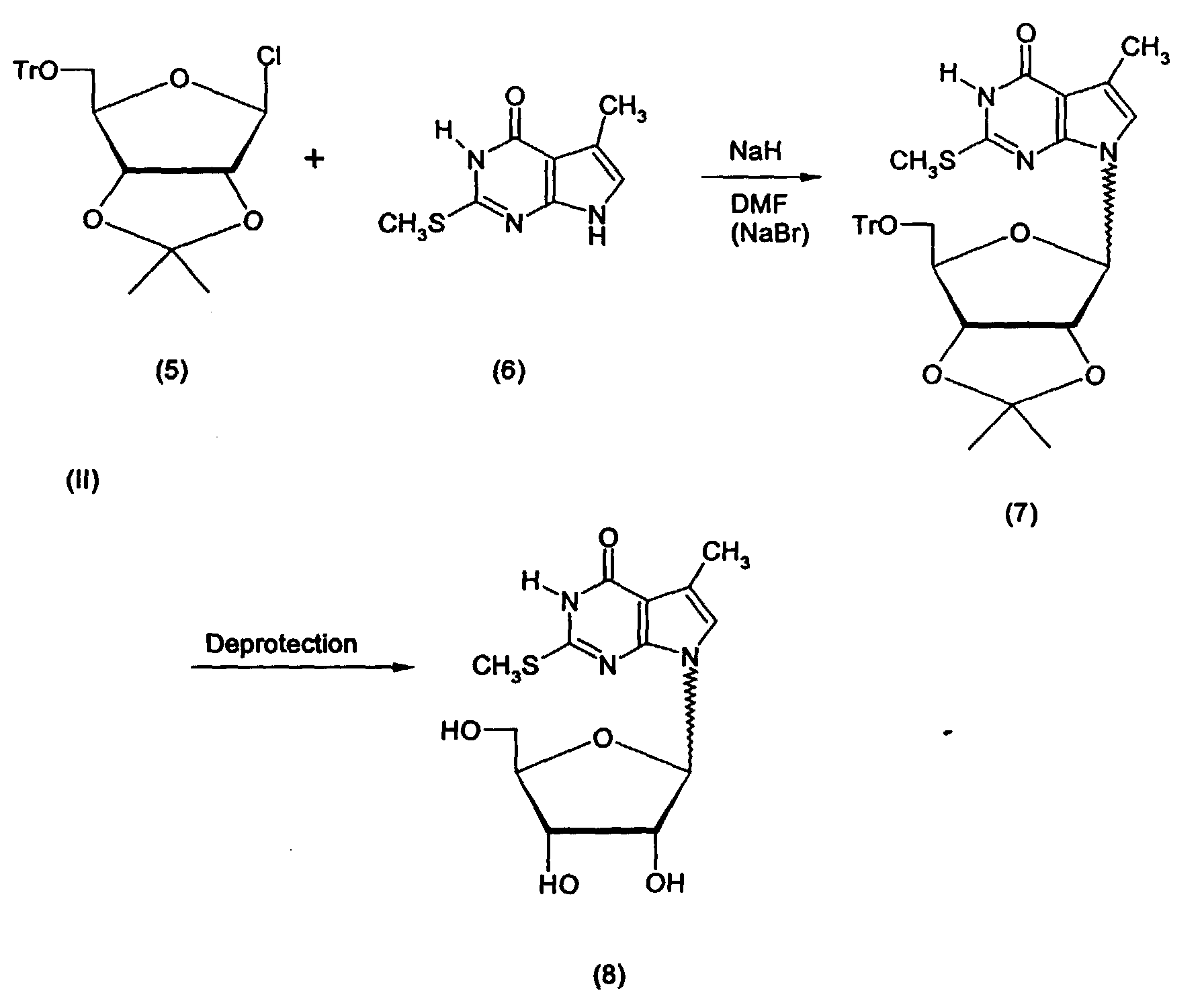 hight resolution of in kondo an mixture of nucleoside analog 8 was synthesized by coupling furanosyl chloride 5 with the heterocycle anion of 6 to yield the