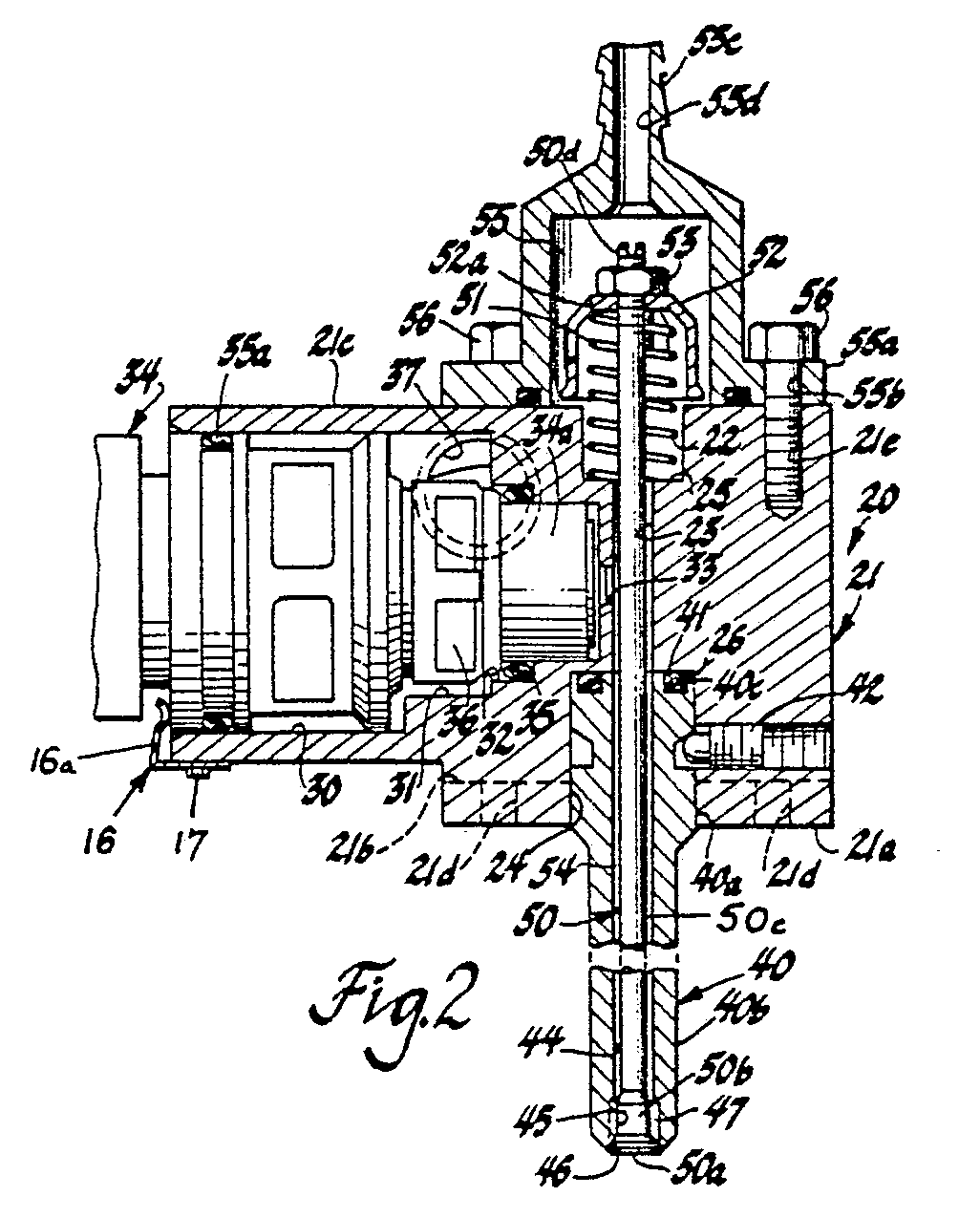 hight resolution of  cylinder 2 having an air source control valve operatively associated therewith to control the flow of pressurized air during the compression stroke