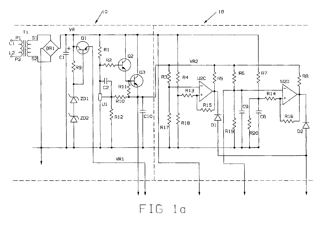 hight resolution of  second primary transformer windings tp1 tp2 from a parallel configuration when exposed to 120 vac to a series configuration when exposed to 240 vac