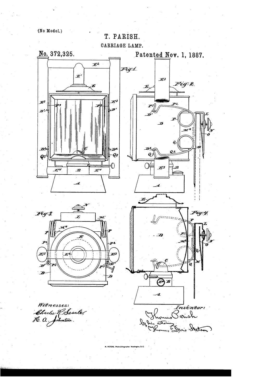 medium resolution of  us372325a carriage lamp google patents on car system diagram 1988 club car