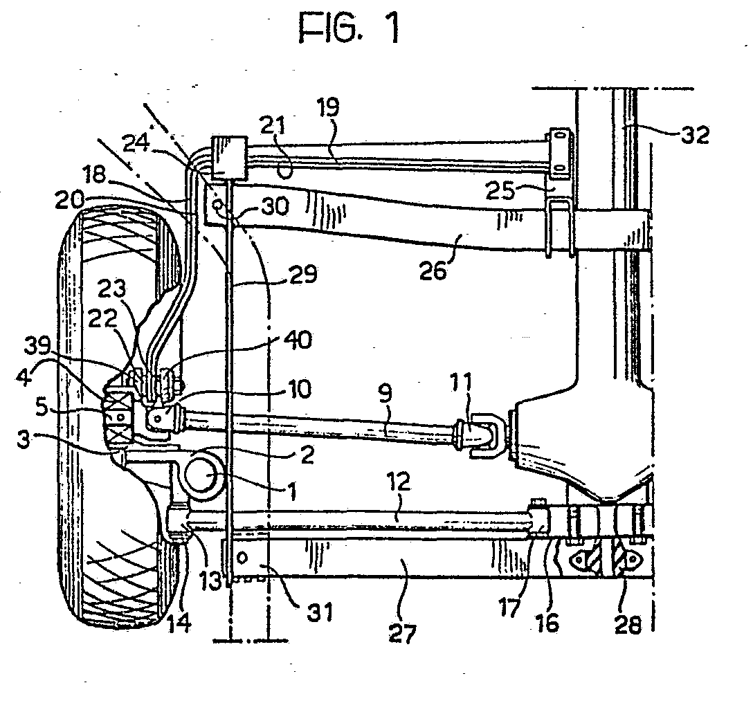 hight resolution of  springing elements and the longitudinal anchorage arm consist of transversal 19 21 and longitudinal 18 20 sections of one or more torsion blades