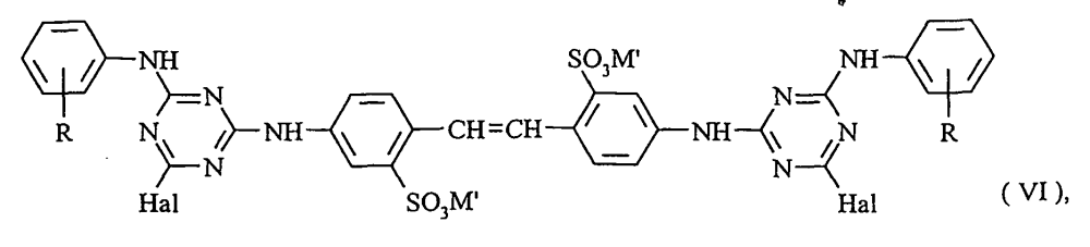 medium resolution of in which hal signifies halogen preferably chlorine which is then reacted with the aliphatic amine of formula iv or v respectively