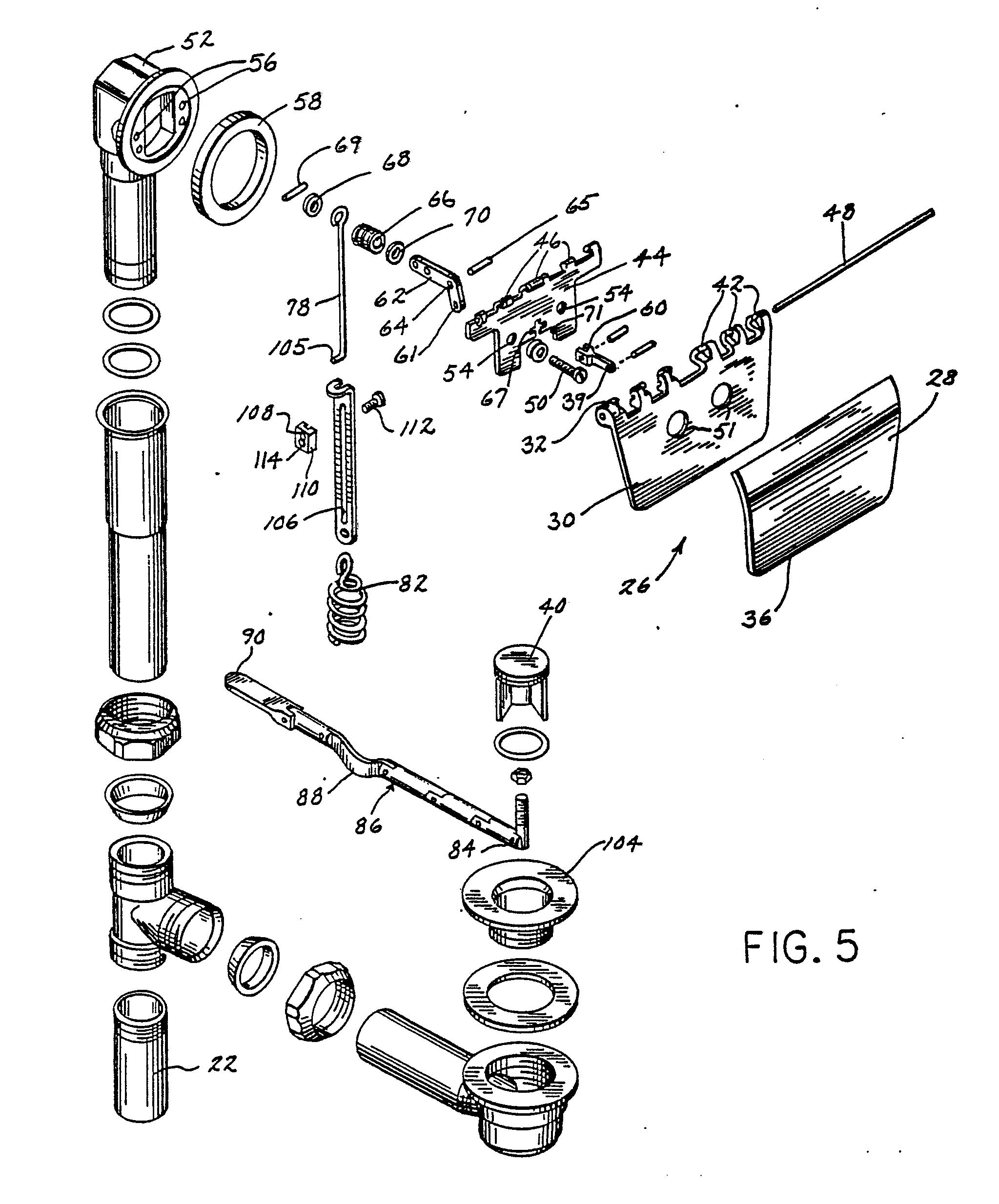 Patente EP0254938A2 Bathtub Drain Control Valve And