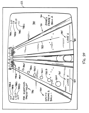 Patent EP0338768B1  Automatic bowling lane system