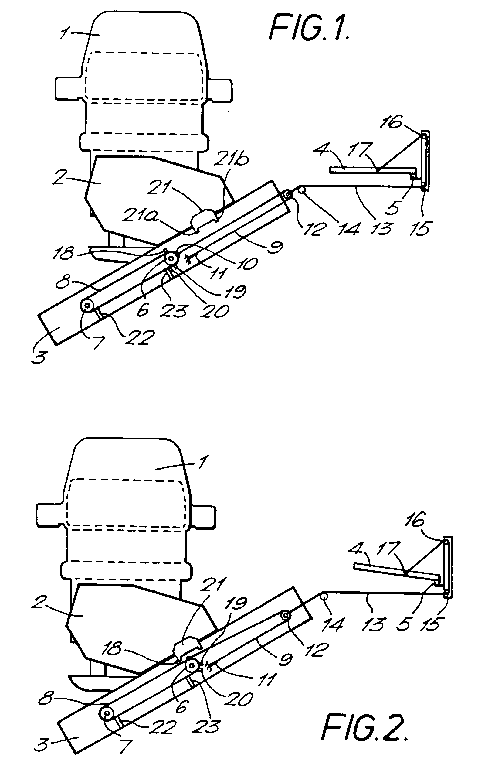 Patent EP0553334B1 Platform Mechanism For A Stair Lift Google