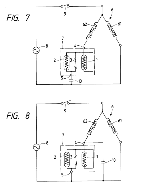 small resolution of patent ep0590592a1 motor starting relay device having ptc thermistors google patents compressor current ptc relay wiring diagram