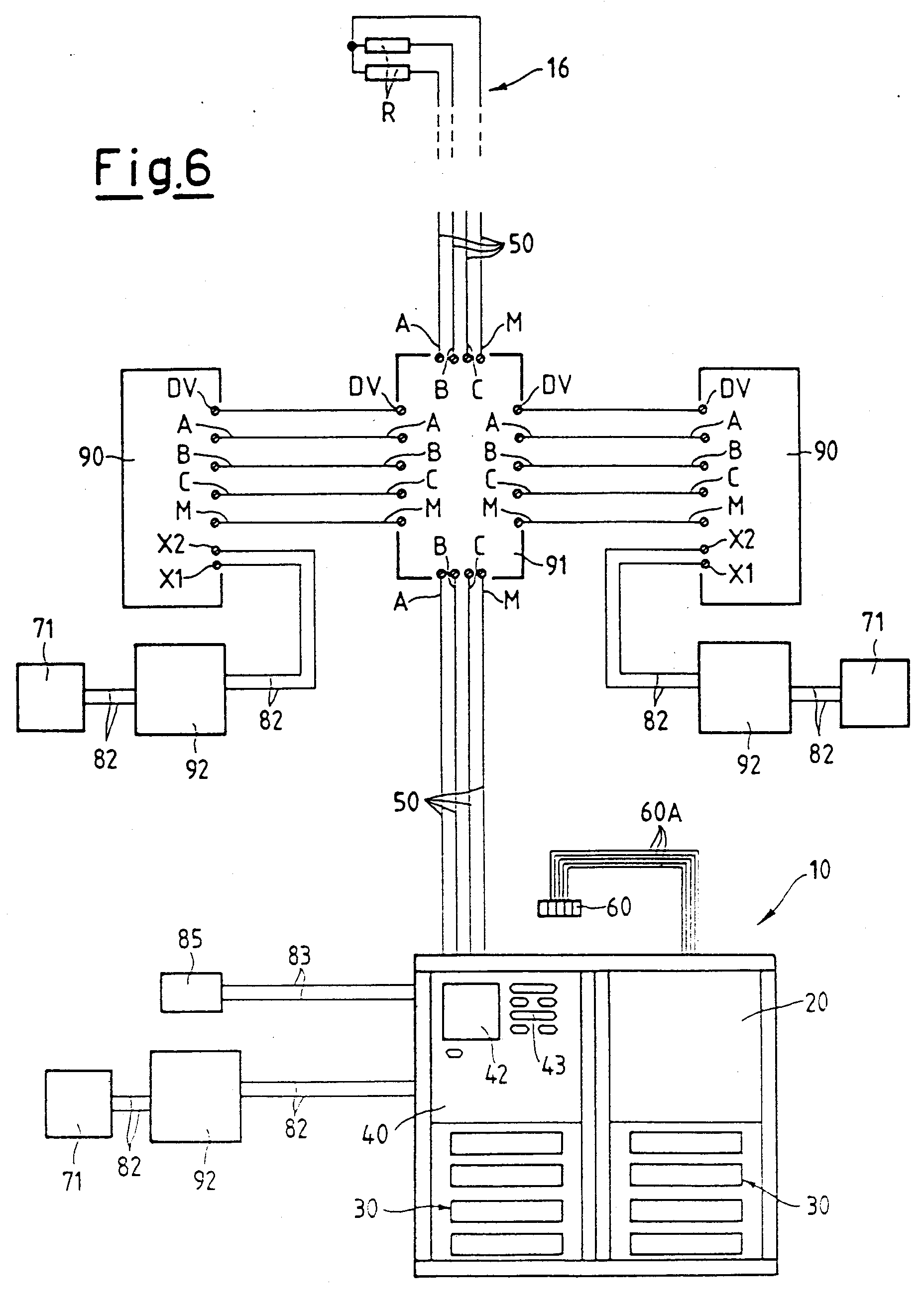 hight resolution of 00150001 patent ep0876044a2 electric connection system for intercom and comelit intercom wiring diagram at cita