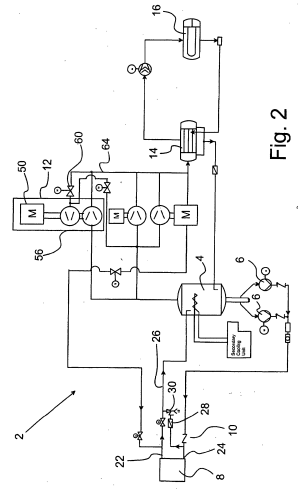 Patent EP1422487A2  Hot gas defrosting of refrigeration