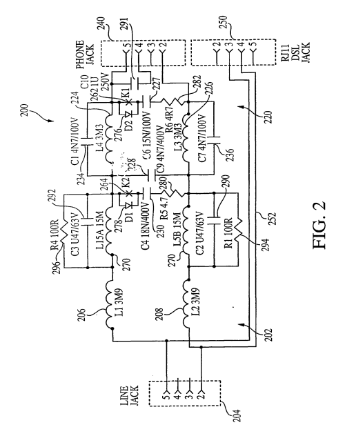 small resolution of  imgf0003 patent ep1444821b1 high performance micro filter and splitter dsl filter wiring diagram at cita