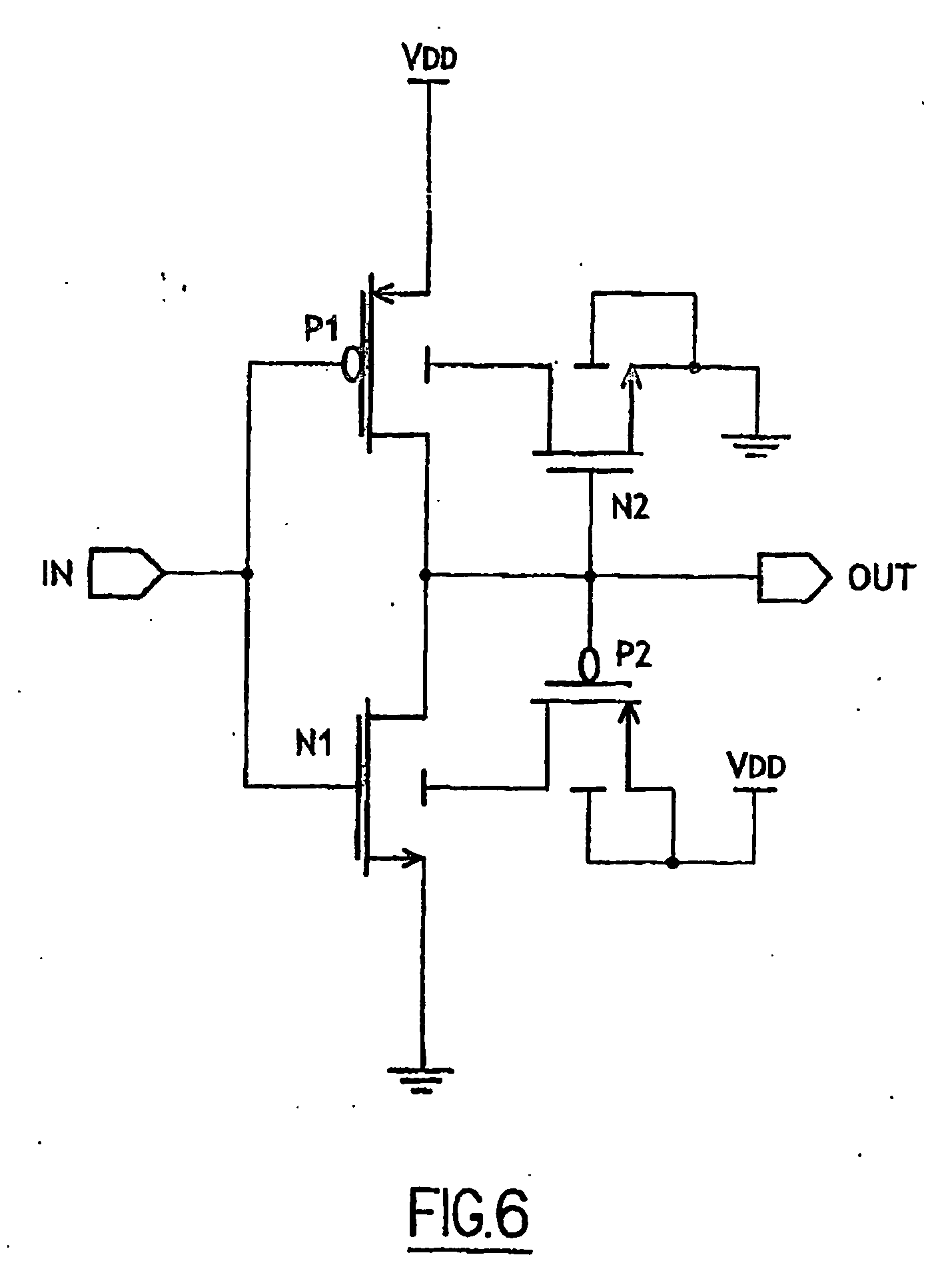 Schmitt Trigger Inverter Schematic