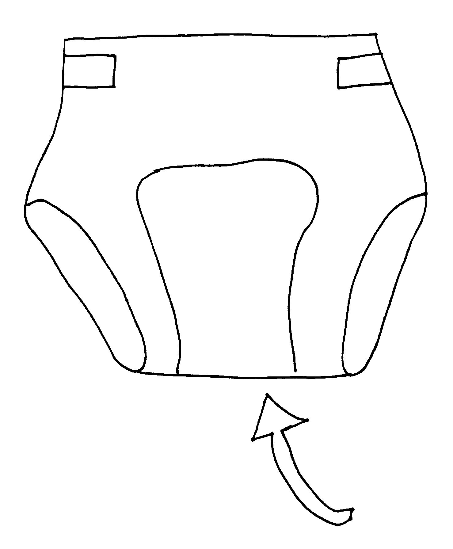 Diaper Coloring Page