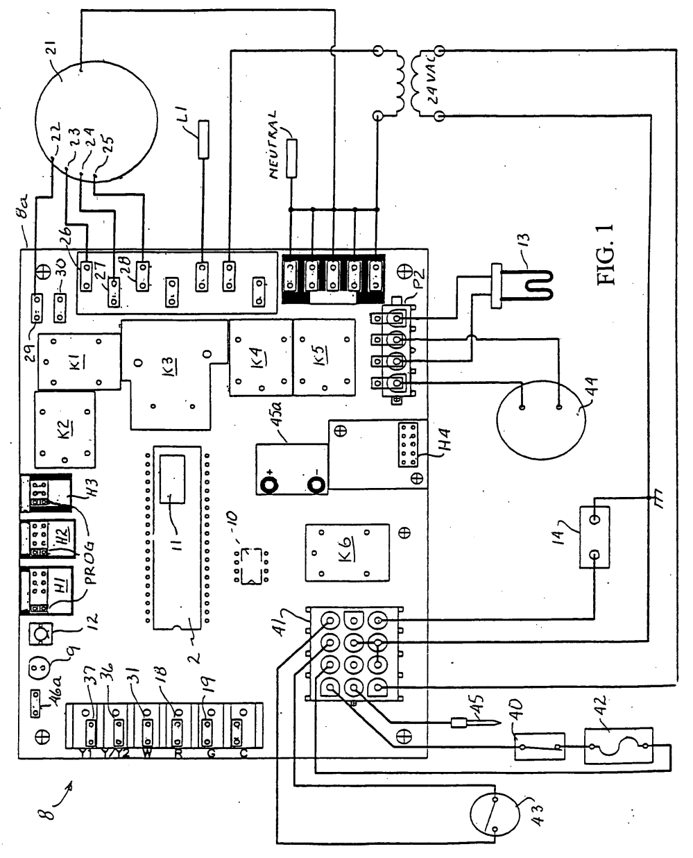 medium resolution of  us20040220777a1 20041104 d00001 york furnace control board schematic circuit and schematics diagram furnace wiring diagram older