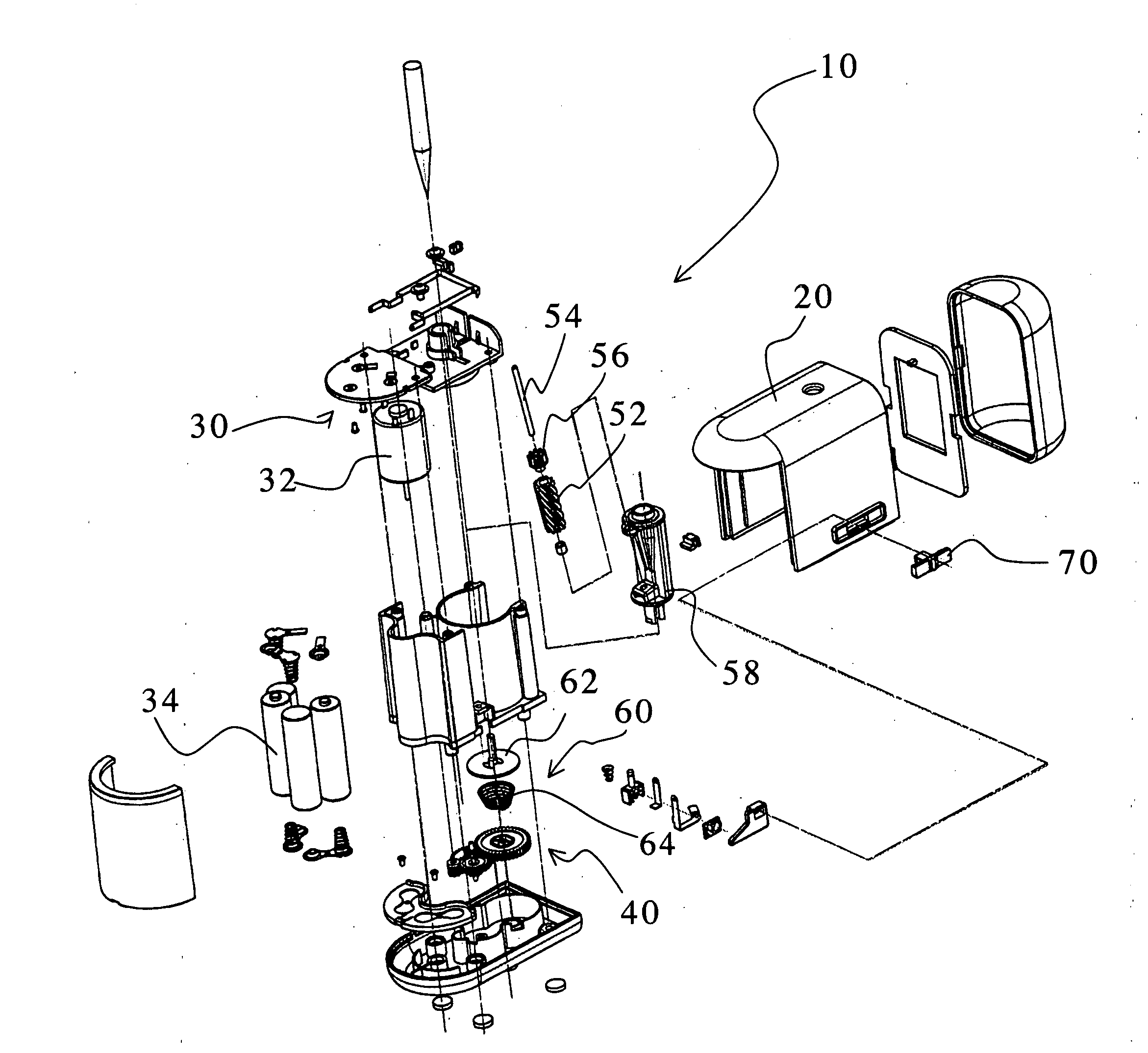 parts of a pocket knife diagram wiring for car stereo installation patent us20060086416 pencil sharpener google patents