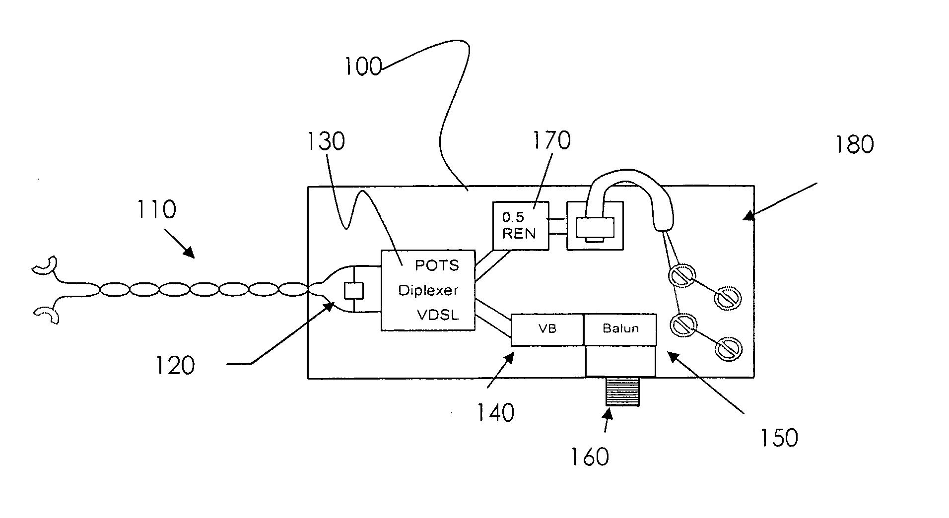 vdsl2 wiring diagram frog external anatomy corning adsl vdsl pots splitter 46