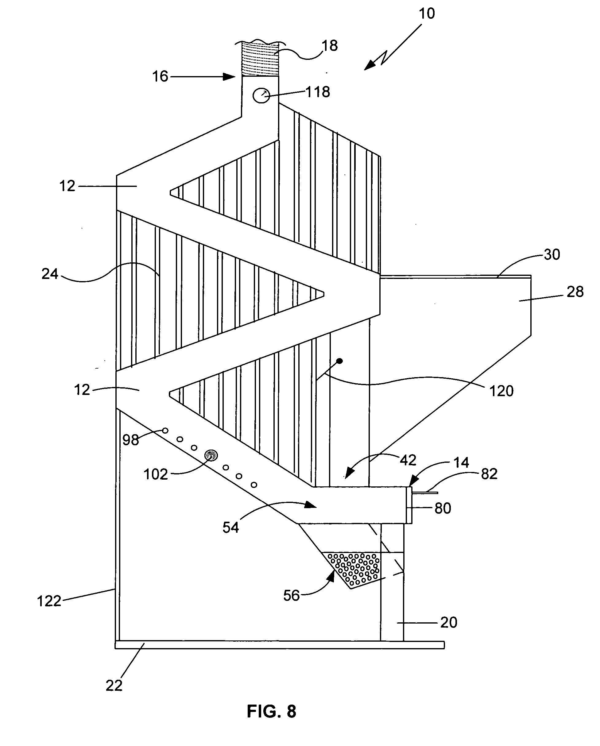 Gravity Feed Natural Draft Stove Ii Patent Us20070186920 - Gravity Feed Natural Draft Pellet