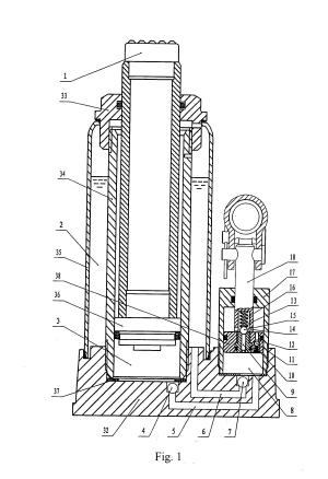 Patent US20080048159  Doublespeed hydraulic bottle jack  Google Patents