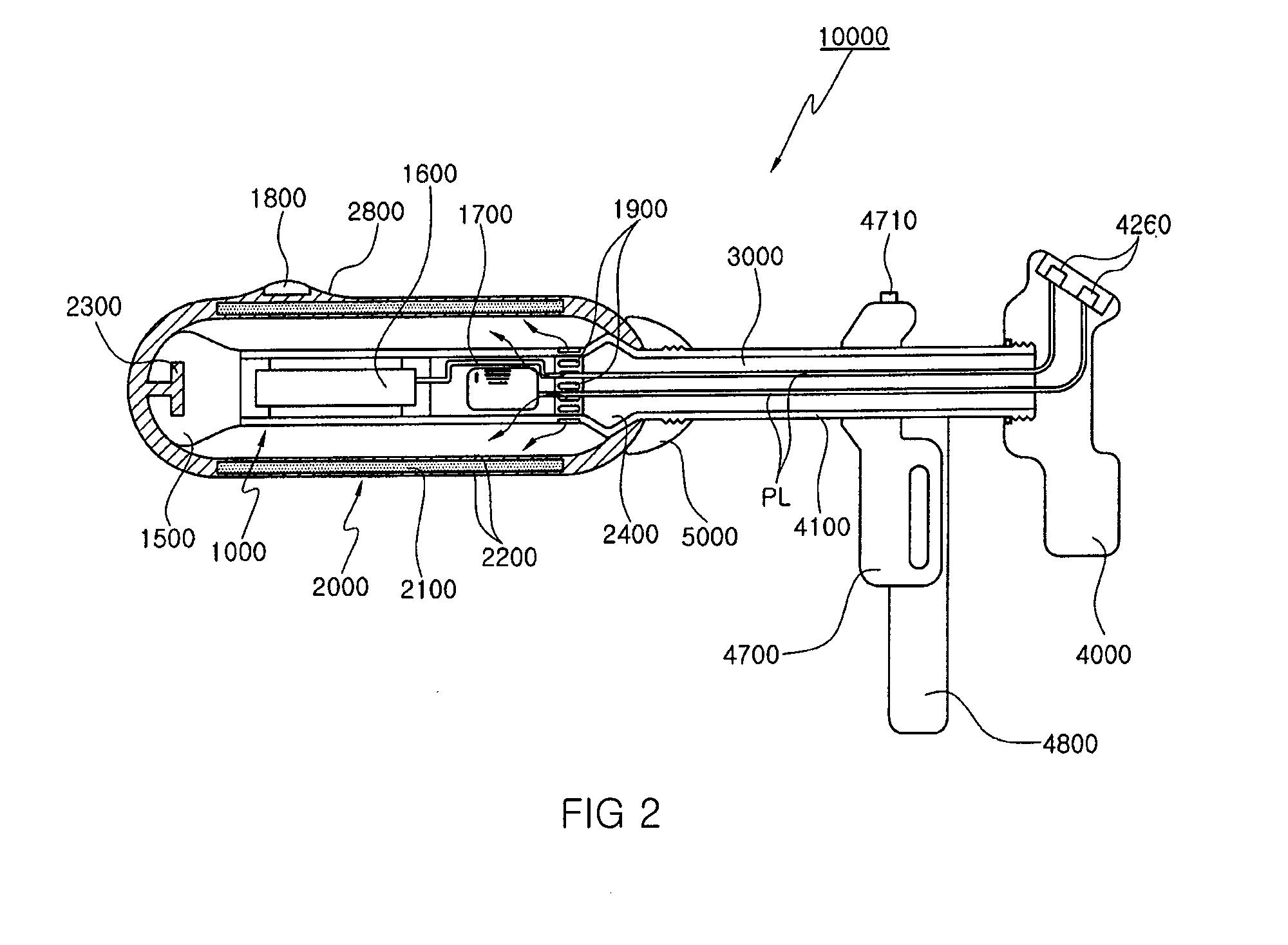 controlling a pump with a floor sensor