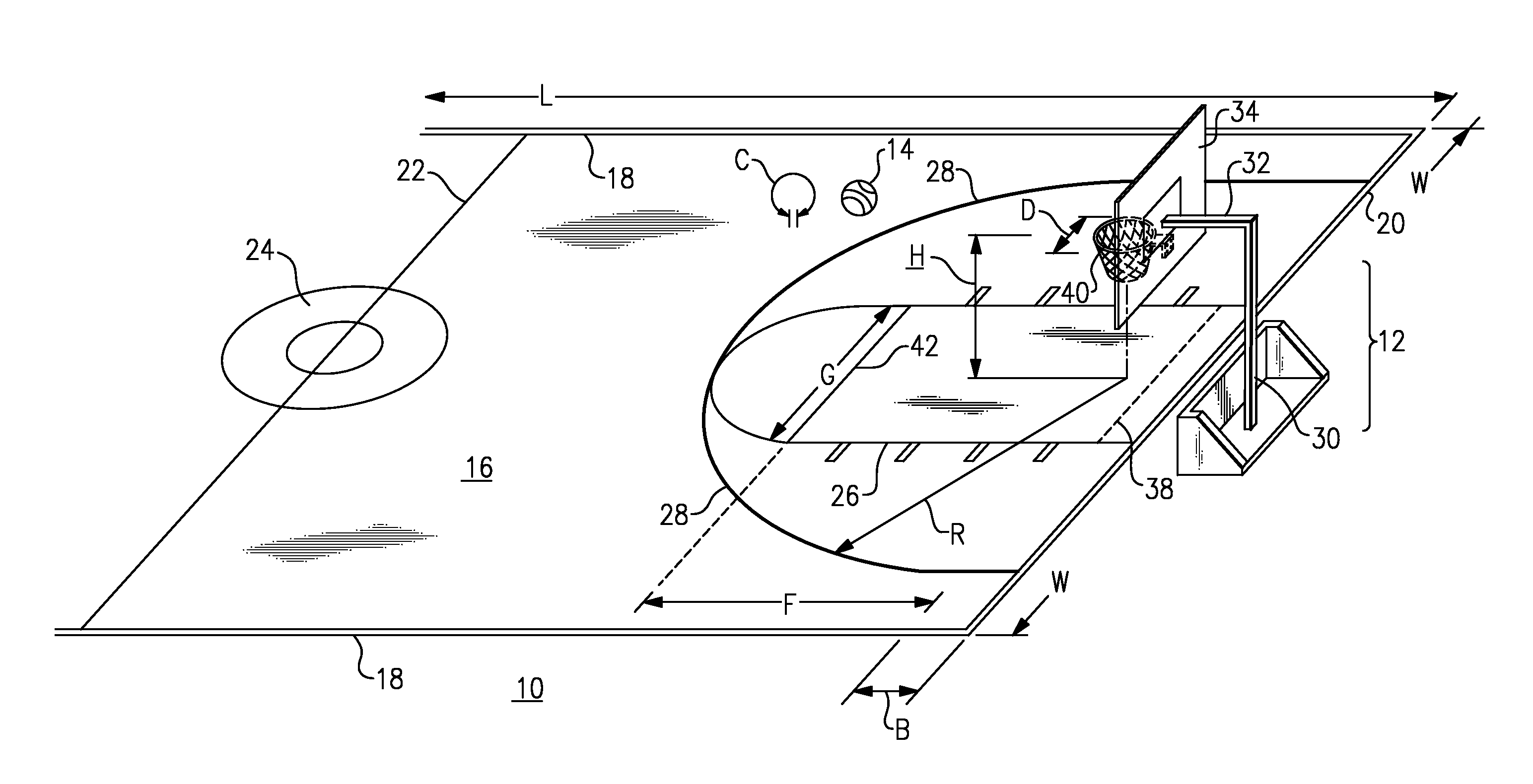 Basketball Court Dimension In Meters Images
