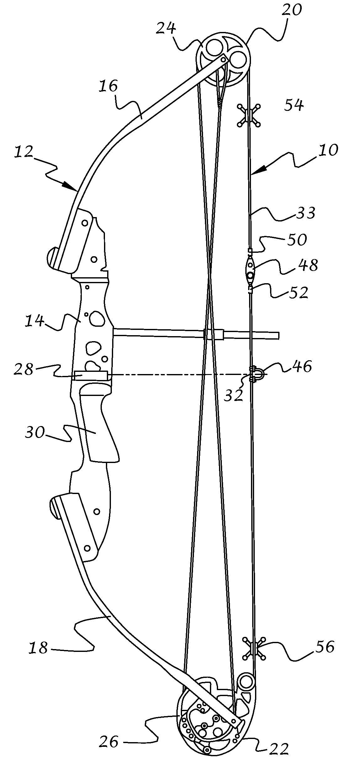archery bow diagram cb400 hawk wiring patent us20090165767 string assembly and method of