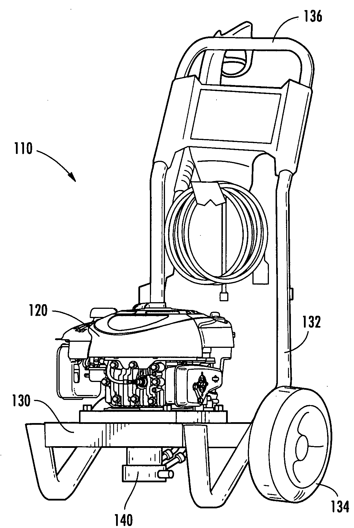 Vertical Shaft Engine Pressure Washer Pump