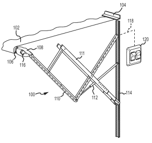 Patent US20110048651  Awning control with multidimensional motion sensing  Google Patents