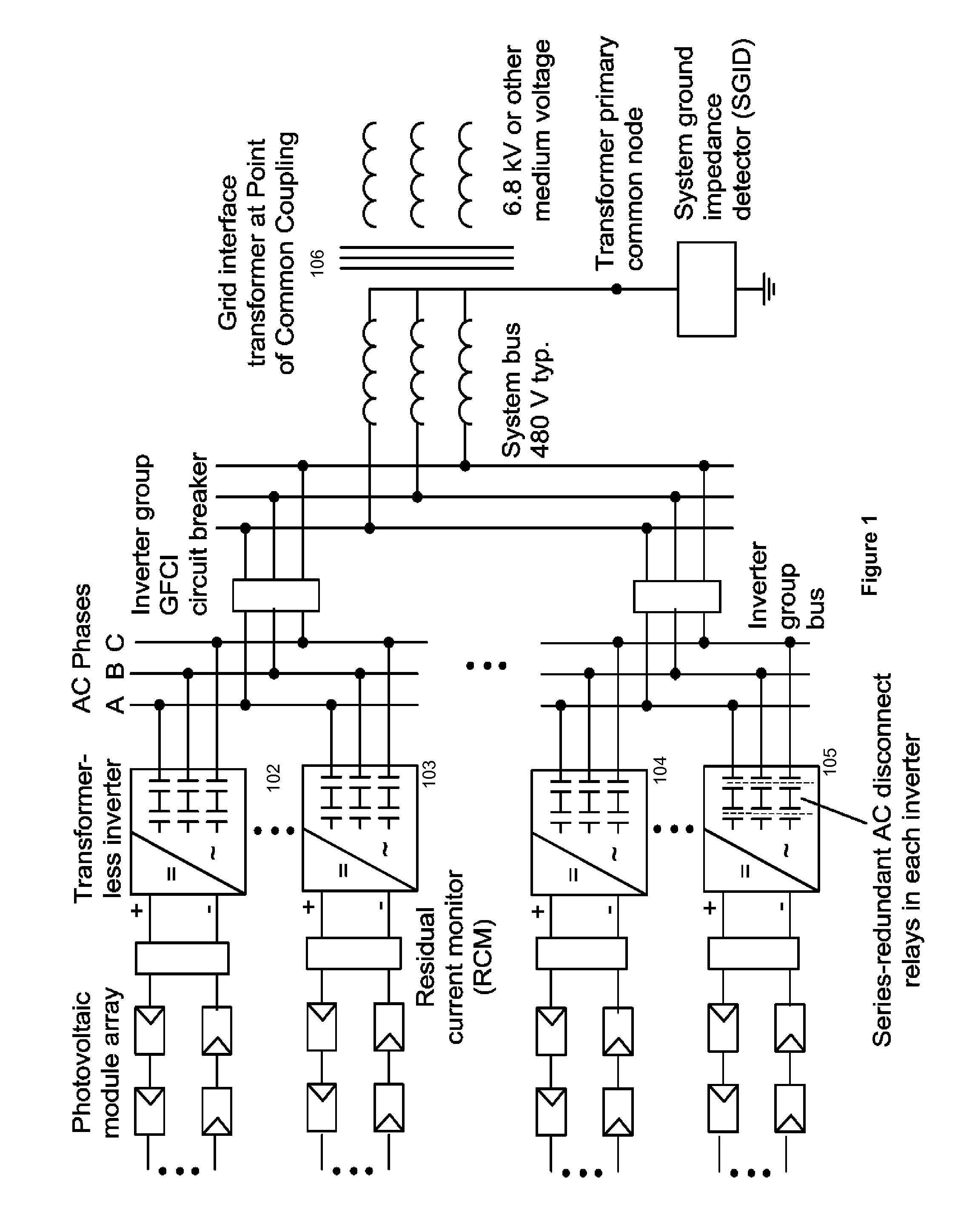 earth fault loop impedance diagram meyer truck lite wiring patent us20120026631 photovoltaic array ground