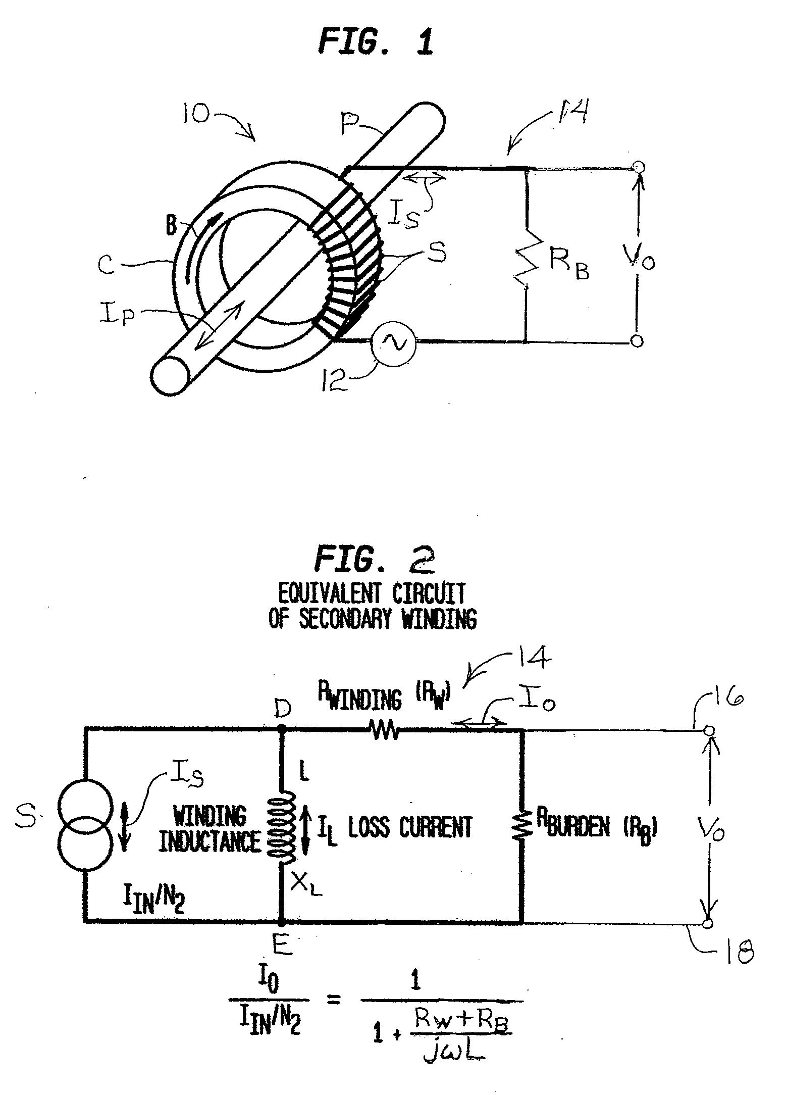 current transformer wiring diagram 2001 nissan pathfinder speaker patent us20120268100 error compensation for