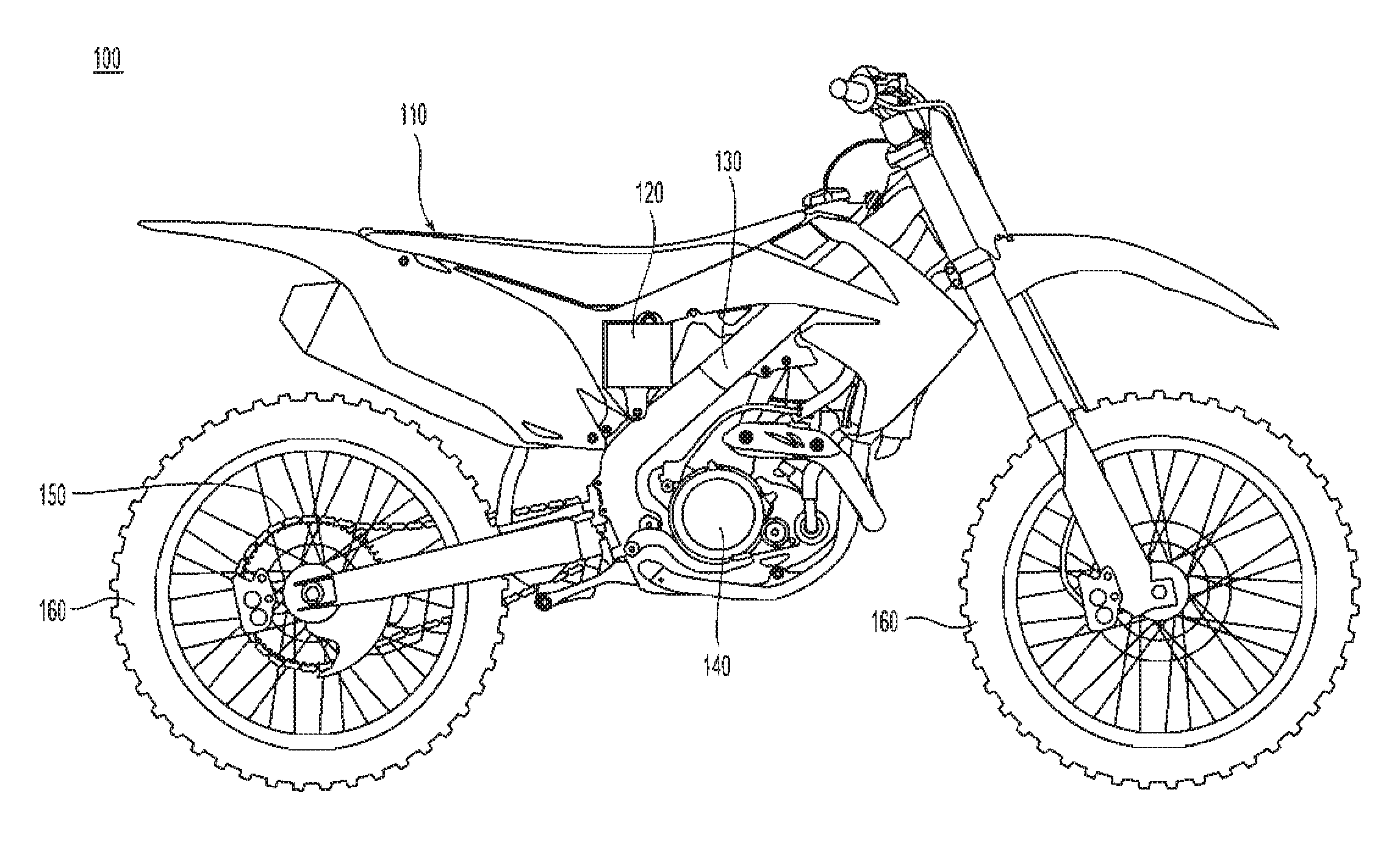 Easy Dirt Bike Line Drawing Sketch Coloring Page