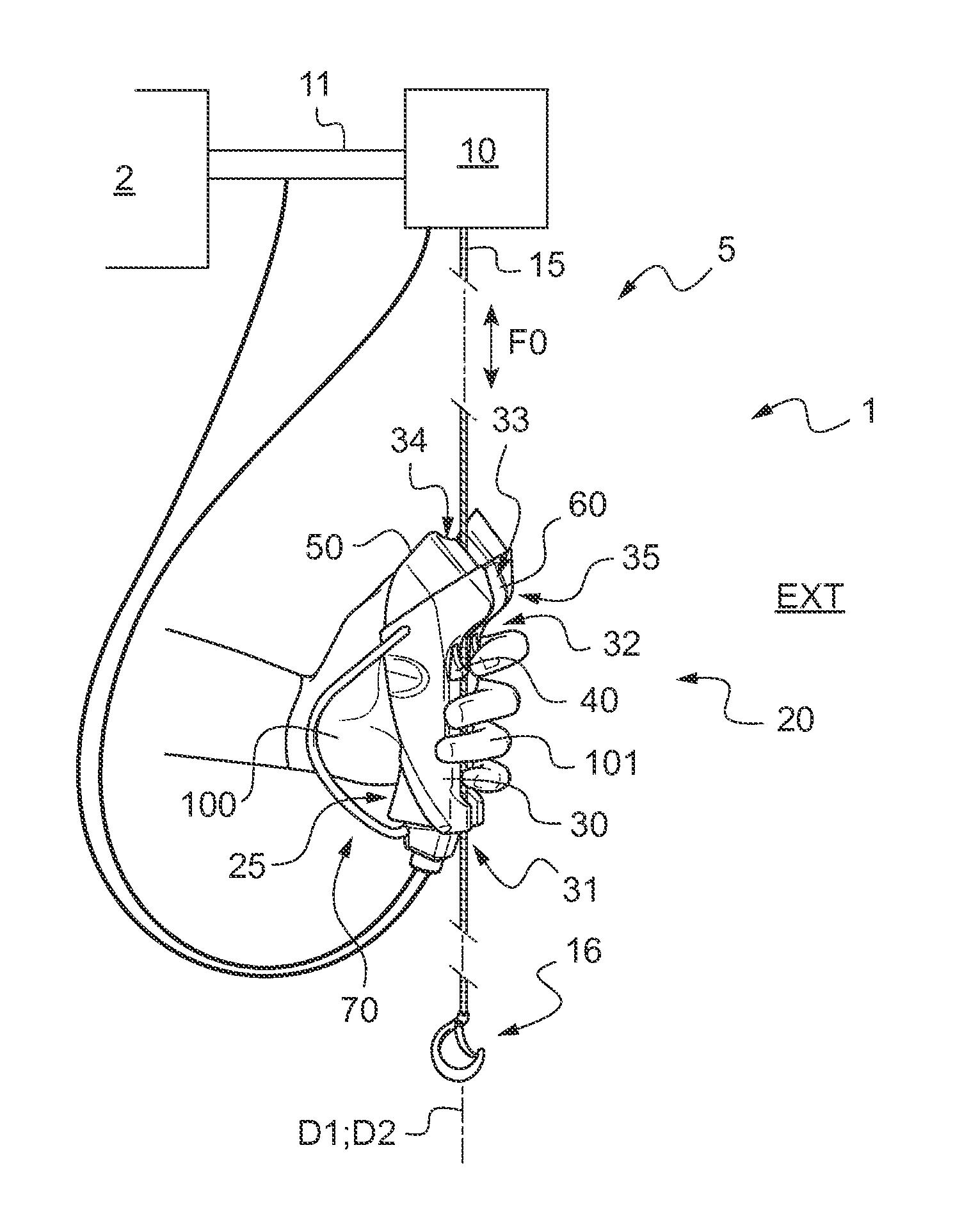 hight resolution of means for a lifter device hoist on overhead crane hoist ke diagram hoist control panel wiring diagram electric