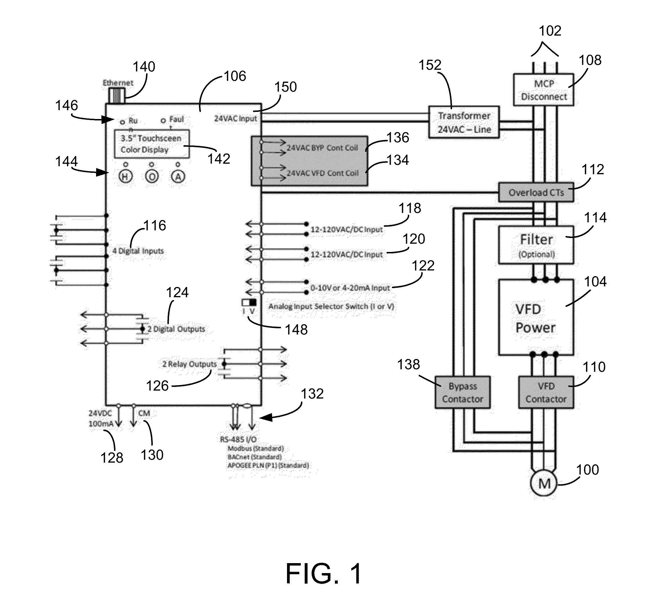 control wiring diagram of vfd switch outlet patent us20130235494 integrated bypass apparatus system