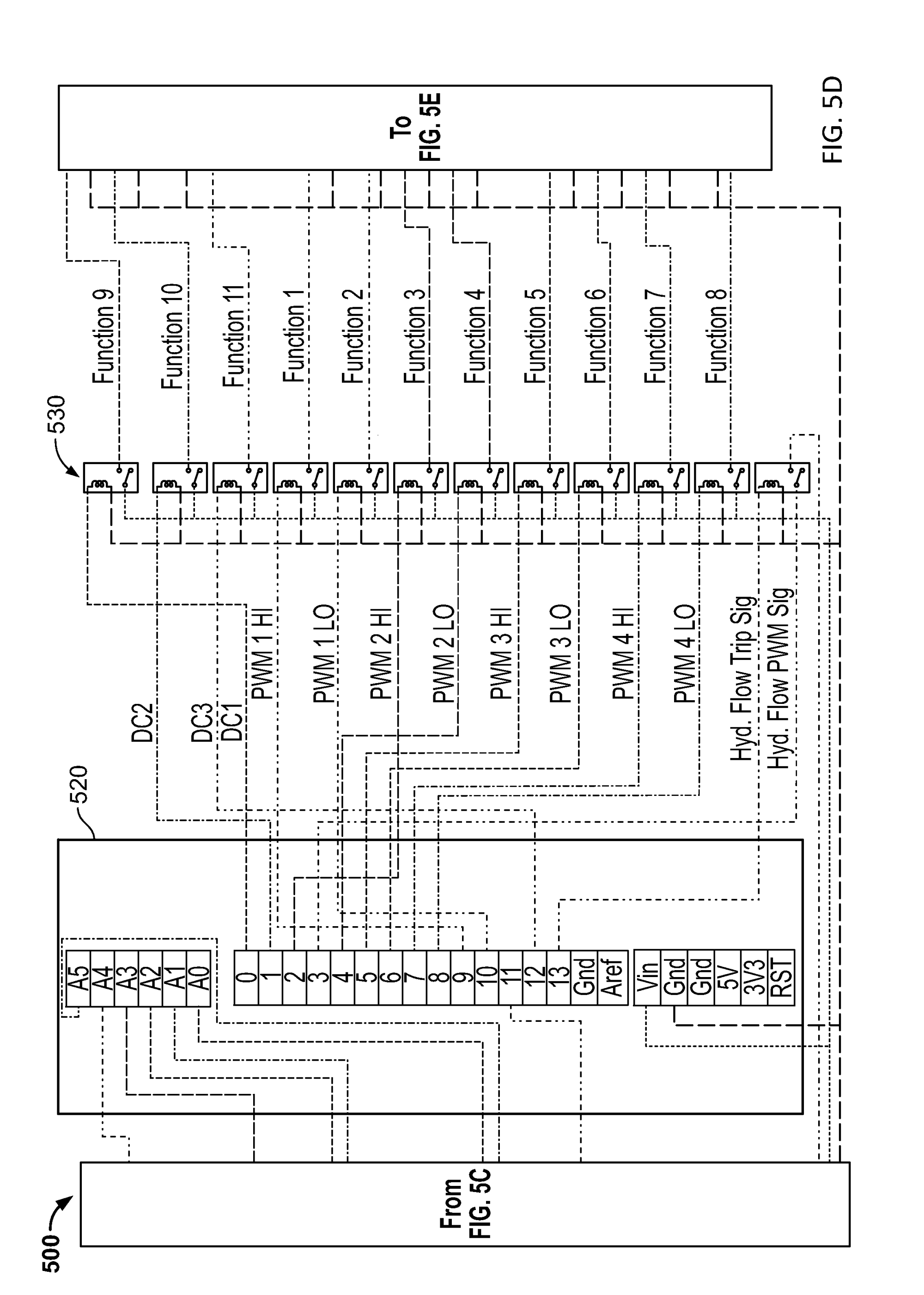 hight resolution of us20130274925a1 20131017 d00008 patent us20130274925 systems and methods for attachment control bobcat 14 pin connector wiring
