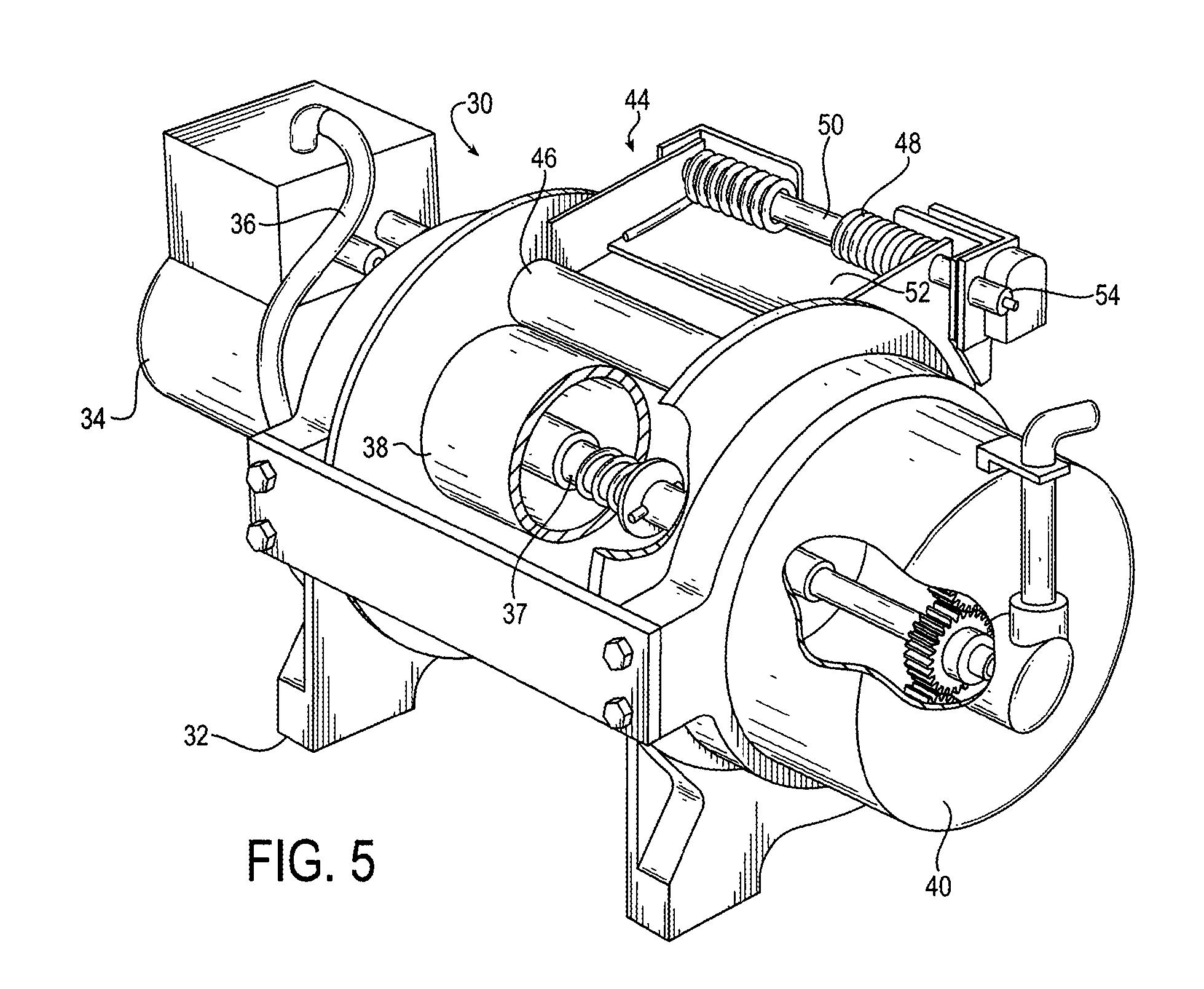 A Motor Driven Winch Pulls