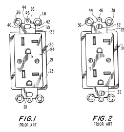 brevet us6184466 wallplate retention device google brevets leviton phone jack wiring also with patent us20110203828 wiring device [ 2728 x 2696 Pixel ]