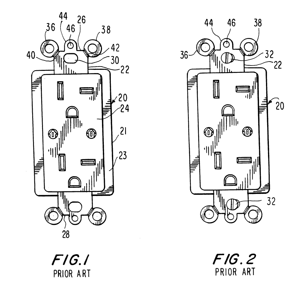medium resolution of brevet us6184466 wallplate retention device google brevets leviton phone jack wiring also with patent us20110203828 wiring device
