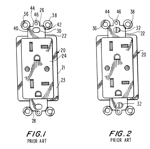 small resolution of brevet us6184466 wallplate retention device google brevets leviton phone jack wiring also with patent us20110203828 wiring device