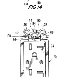 brevet us6184466 wallplate retention device google brevets leviton phone jack wiring also with patent us20110203828 wiring device [ 1894 x 3530 Pixel ]