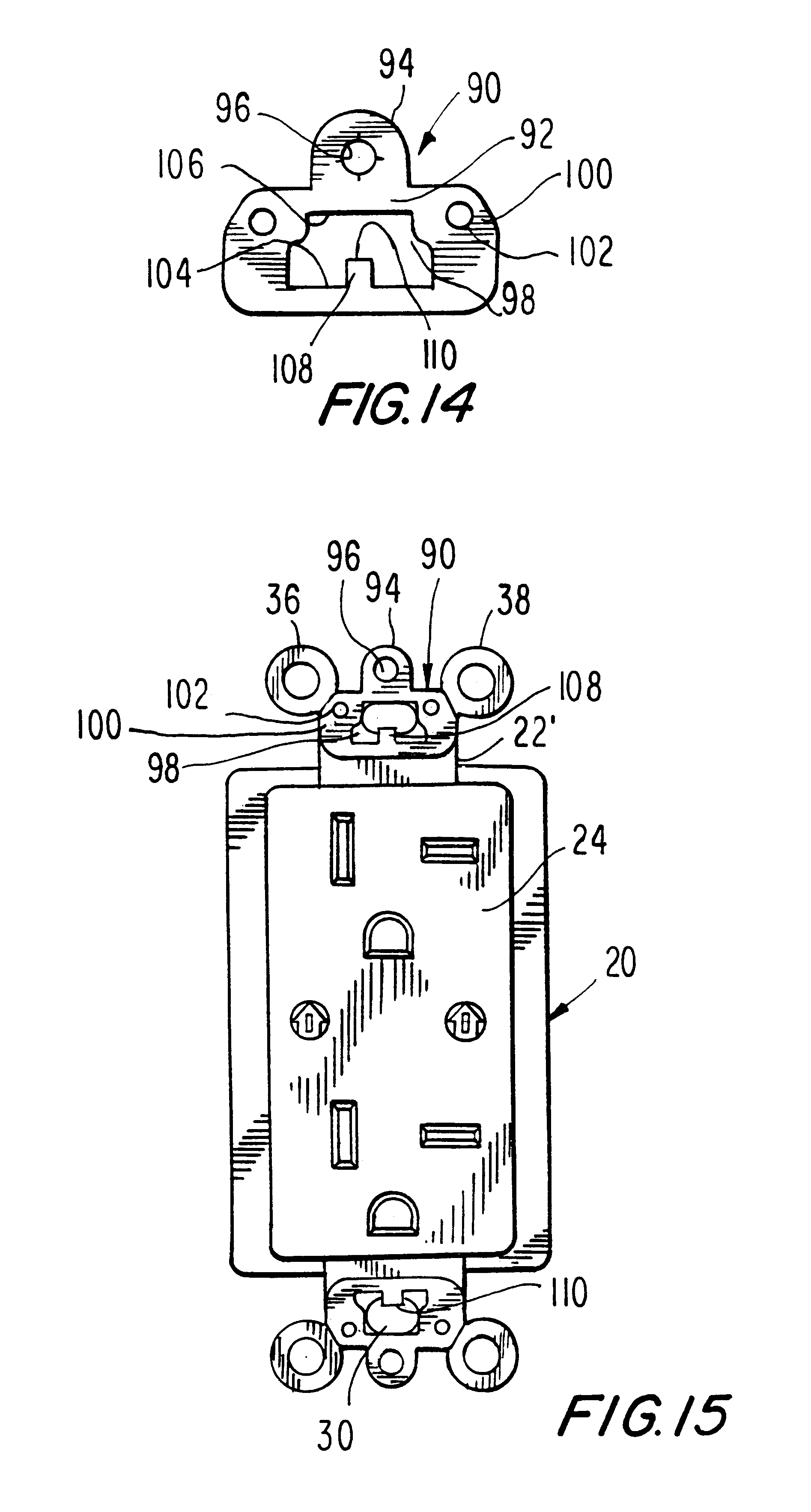 hight resolution of brevet us6184466 wallplate retention device google brevets leviton phone jack wiring also with patent us20110203828 wiring device