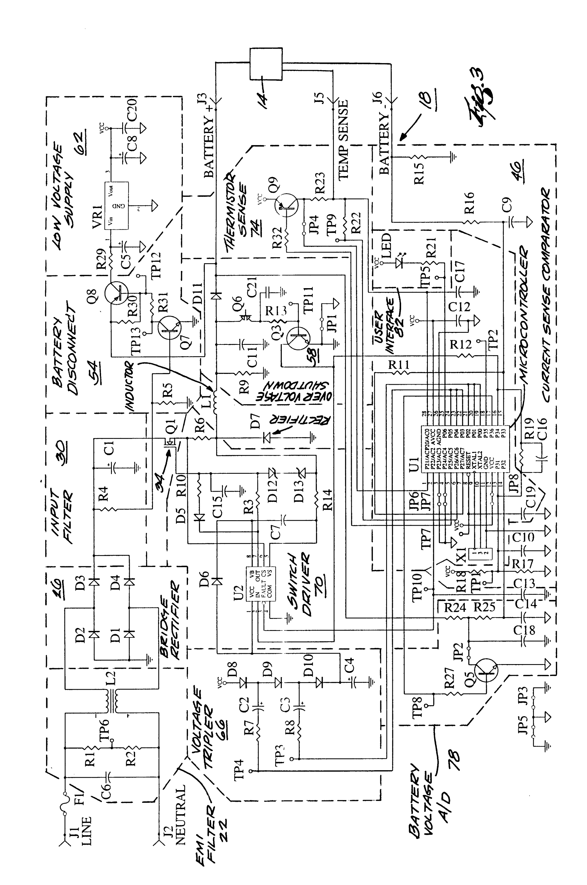 hight resolution of  20010424 d00003 patent us6222343 battery charger a method for charging a schumacher battery charger schumacher battery charger wiring schematic