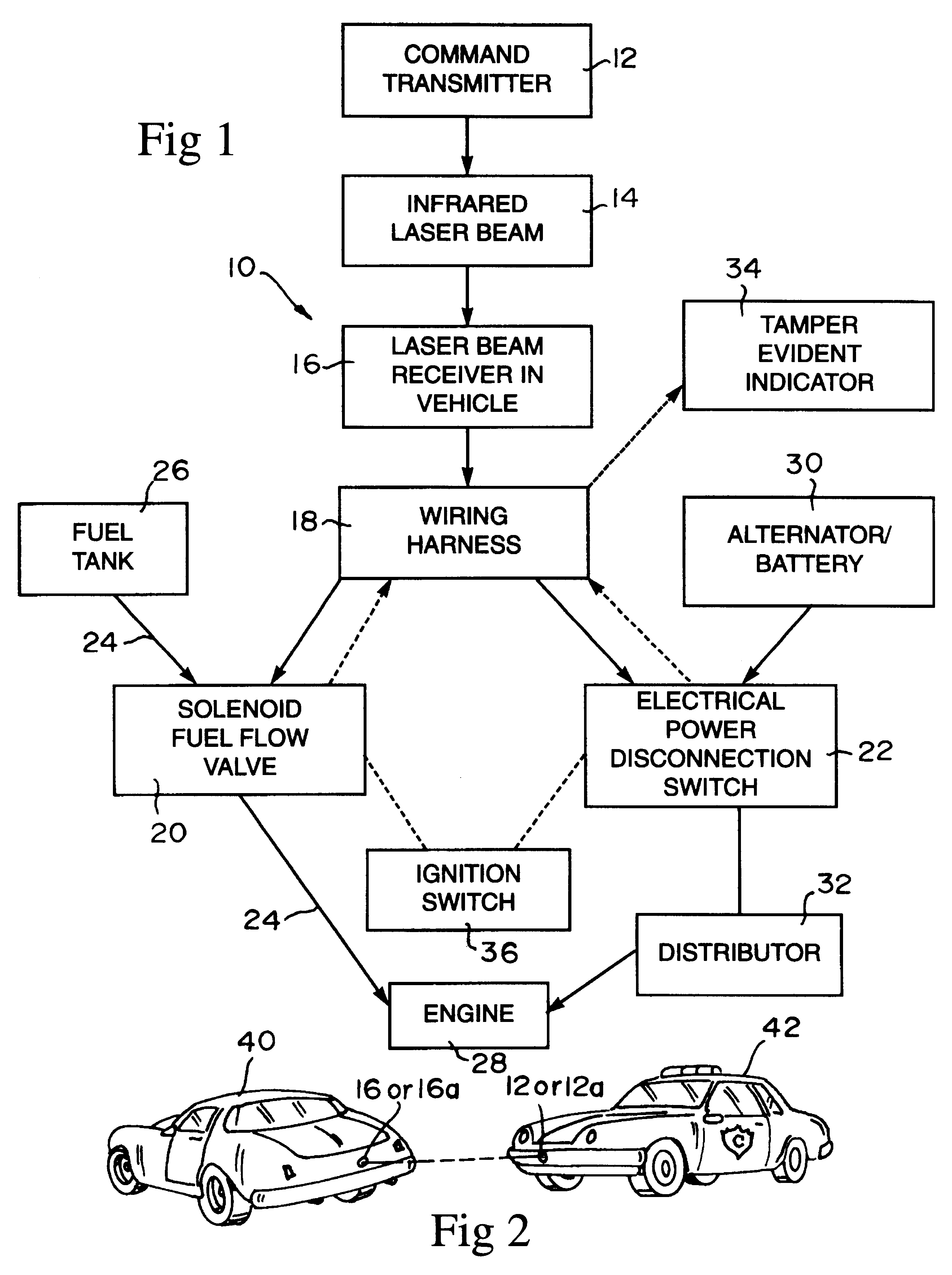 Patent us6232884 remotely operable vehicle disabling system