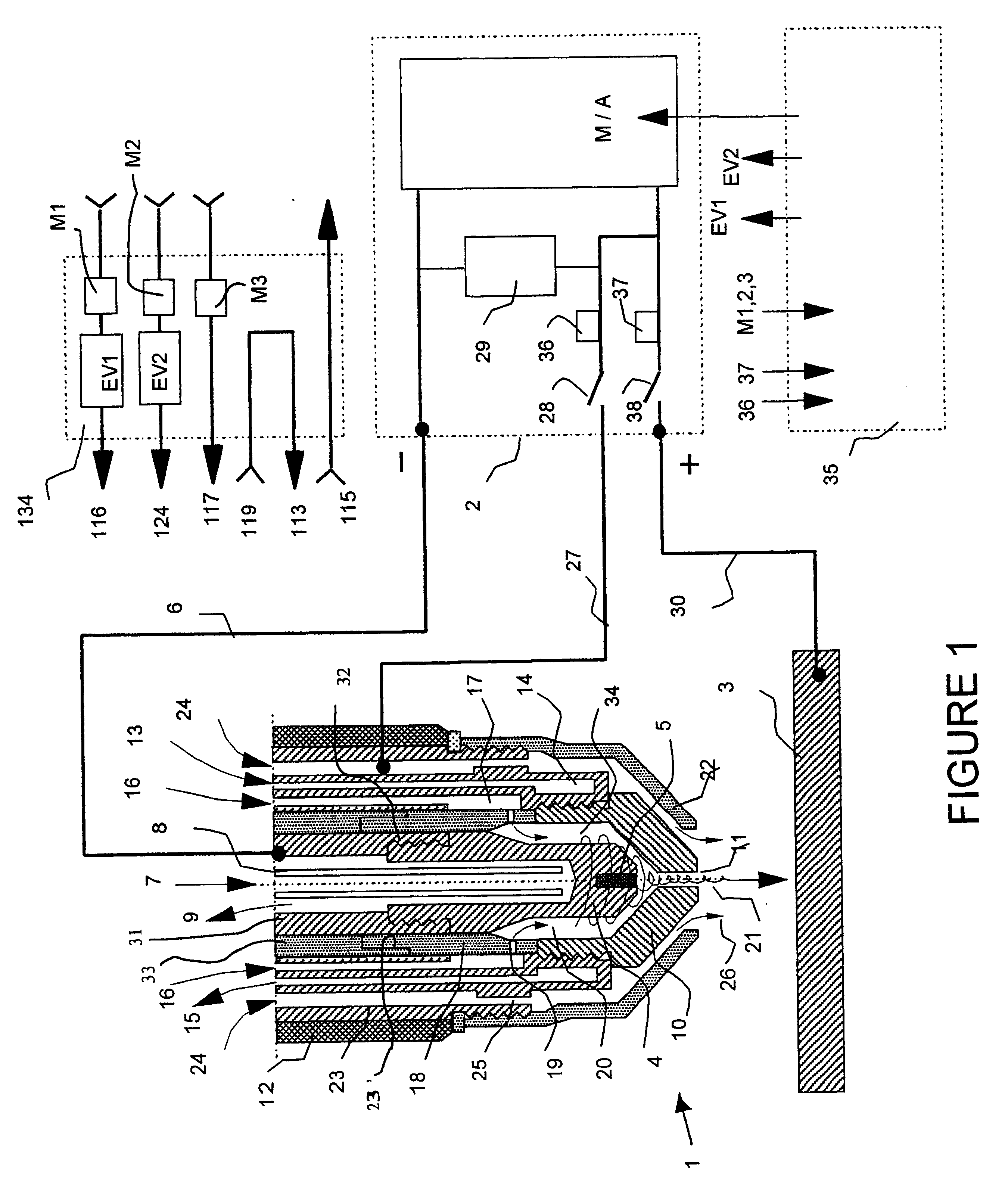structure of an electric torch