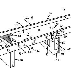 Table Shuffleboard Dimensions Diagram Johnson 115 V4 Wiring Patent Us6279905 Game With Air Cushion