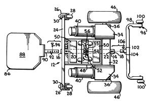 Patent US6290011  Front wheelrear wheel drive