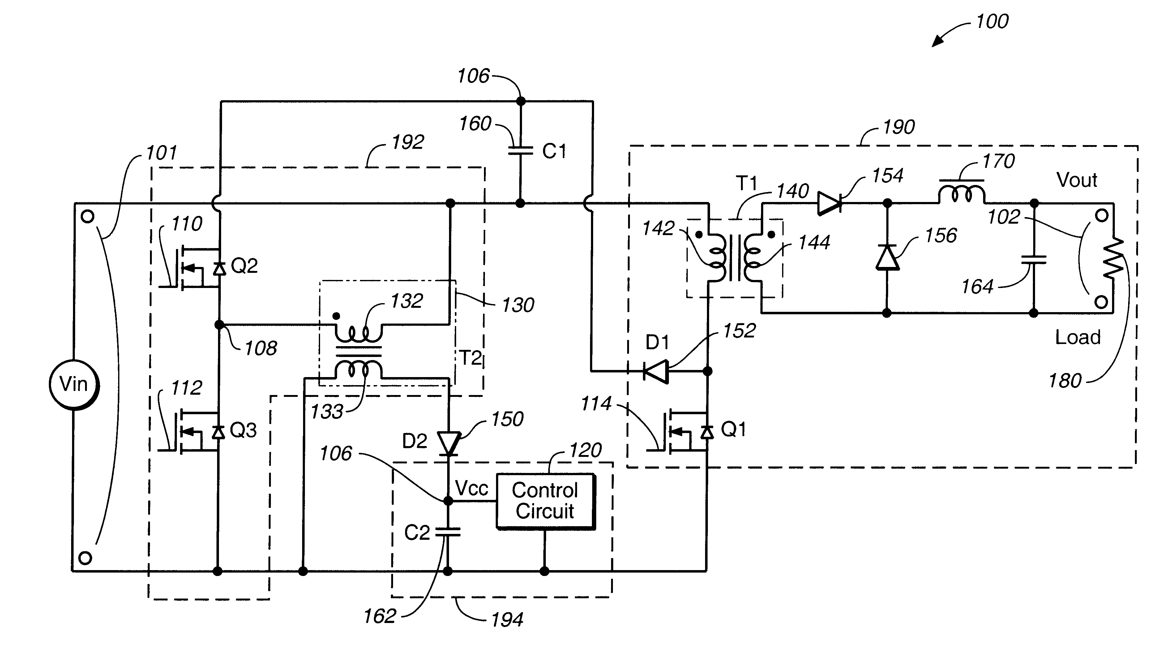 circuit diagram of clipper and clamper 700r4 transmission wiring patent us6295213 for efficiently clamping a