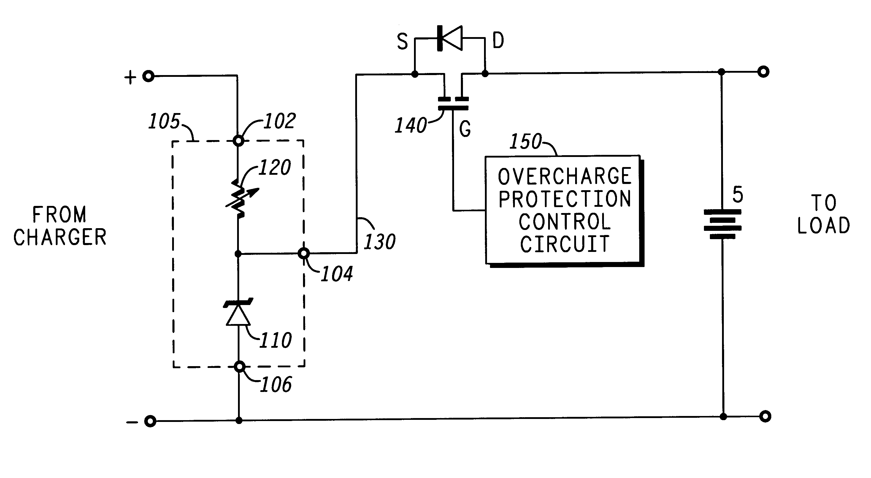 battery overcharge protection circuit