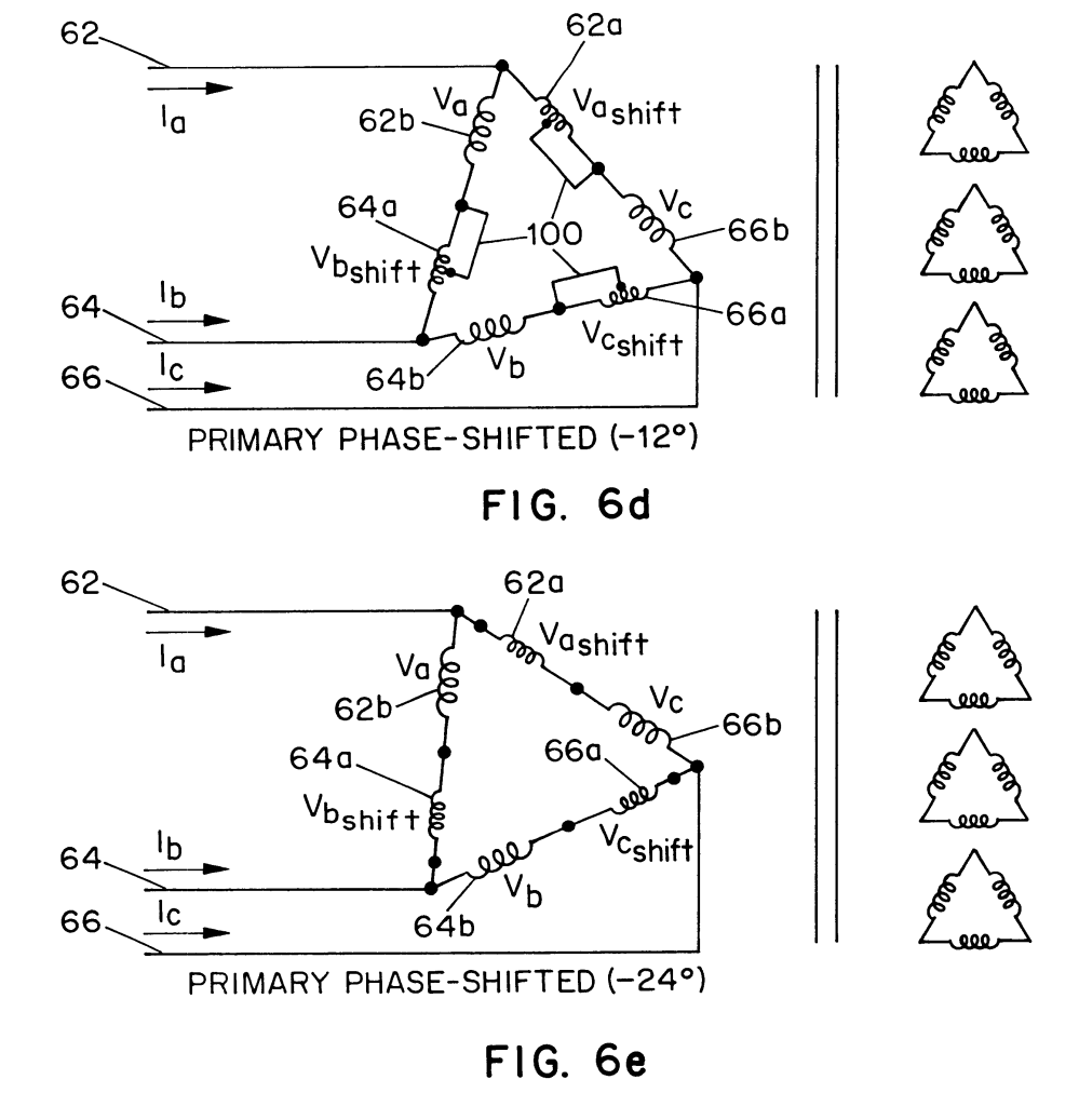 medium resolution of us06340851 20020122 d00006 patent us6340851 modular transformer arrangement for use with delta to delta to wye transformer wiring diagram 39