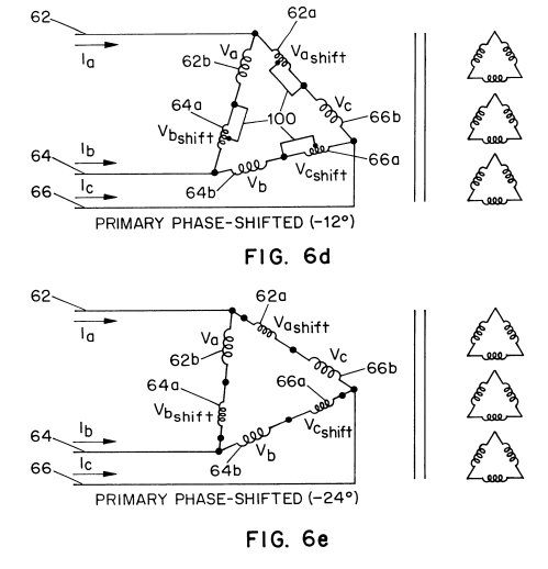 small resolution of us06340851 20020122 d00006 patent us6340851 modular transformer arrangement for use with delta to delta to wye transformer wiring diagram 39