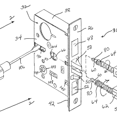 Mortise Lock Parts Diagram How To Hook Up A Water Softener Patent Us6349982 Reversible Google Patents