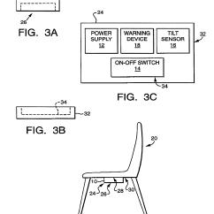 Posture Sensor Chair Patio Rocking Chairs Uk Patent Us6392556 Tilt Alarm Google Patents