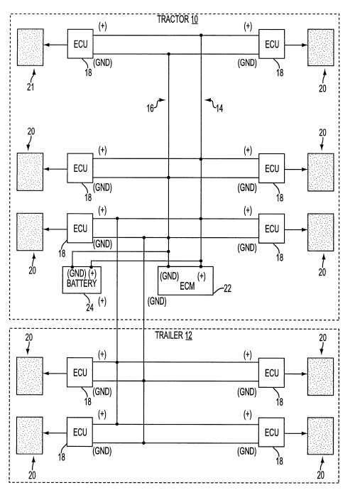 small resolution of patent us6412880 combined power supply and electronic control rh google com 1997 freightliner fl70 wiring diagrams bendix trailer abs wiring diagram